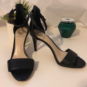 Vince Camuto black leather sandals